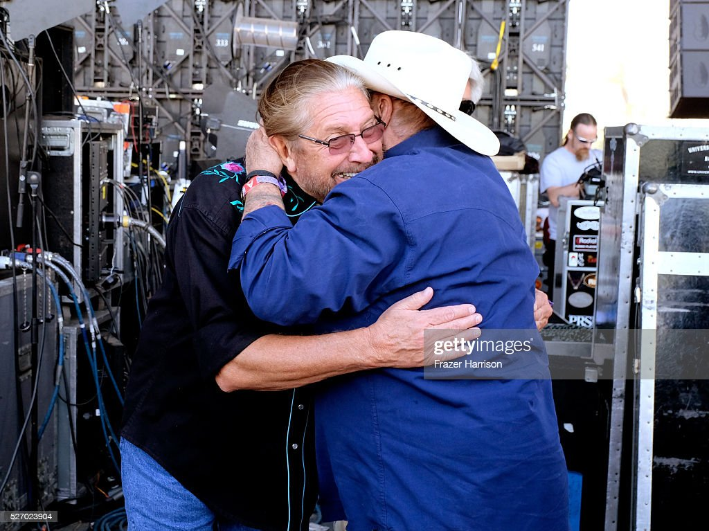 Singer Doug Gray of The Marshall Tucker Band (L) and musician <a gi-track='captionPersonalityLinkClicked' href=/galleries/search?phrase=Johnny+Lee&family=editorial&specificpeople=3129627 ng-click='$event.stopPropagation()'>Johnny Lee</a> are seen during 2016 Stagecoach California's Country Music Festival at Empire Polo Club on May 01, 2016 in Indio, California.