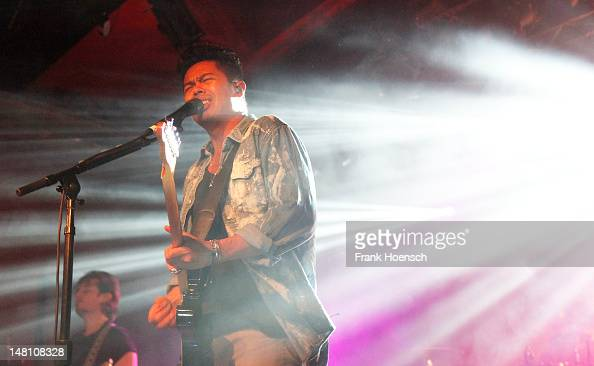 Singer Dougy Mandagi of the band The Temper Trap performs live during a concert at the Astra on June 25 2012 in Berlin Germany