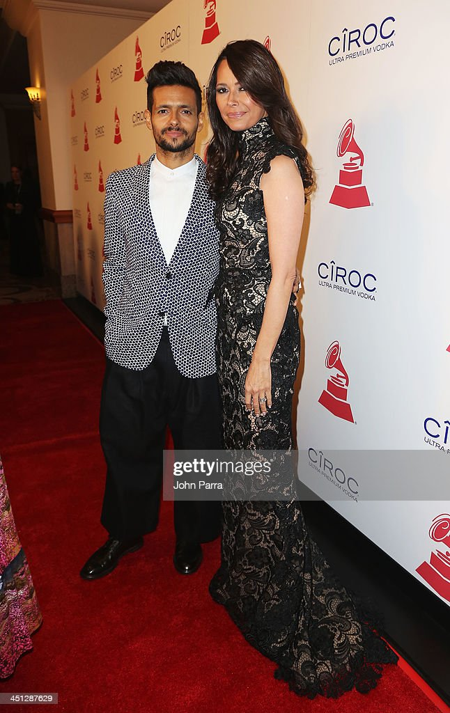 Singer Draco Rosa (L) and actress Angela Alvarado attend The 14th Annual Latin GRAMMY Awards after party at the Mandalay Bay Events Center on November 21, 2013 in Las Vegas, Nevada.