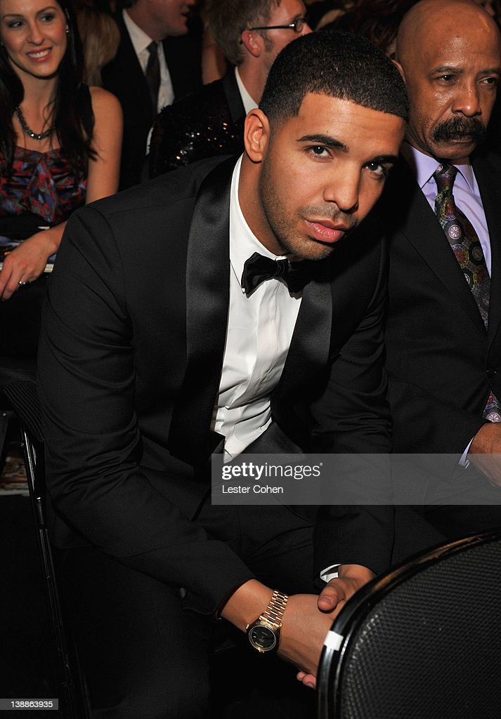 Singer Drake attends The 54th Annual GRAMMY Awards at Staples Center on February 12, 2012 in Los Angeles, California.