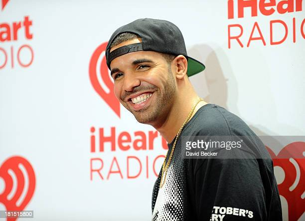 Singer Drake attends the iHeartRadio Music Festival at the MGM Grand Garden Arena on September 21 2013 in Las Vegas Nevada