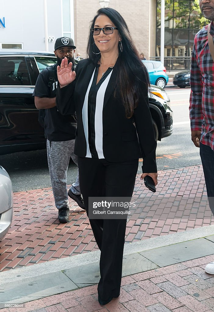 Singer drummer and percussionist Sheila E visits Fox 29's 'Good Day' at FOX 29 Studio on August 25 2016 in Philadelphia Pennsylvania