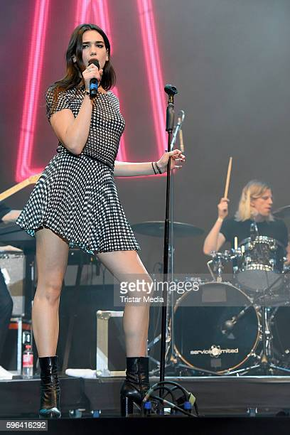 Singer Dua Lipa attends the Stars For Free 2016 Open Air Festival on August 27 2016 in Berlin Germany