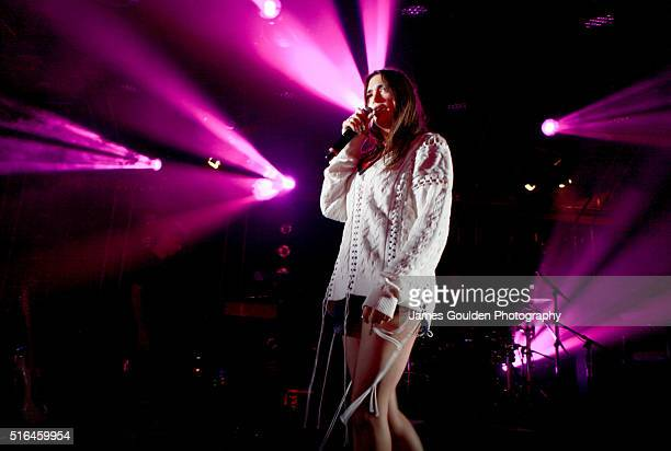 Singer Dua Lipa performs onstage at Cruel Rhythm during the 2016 SXSW Music Film Interactive Festival at Hype Hotel on March 18 2016 in Austin Texas