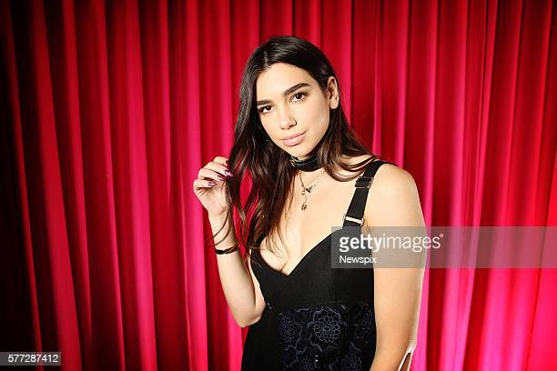 Singer Dua Lipa poses during a photo shoot in Sydney New South Wales