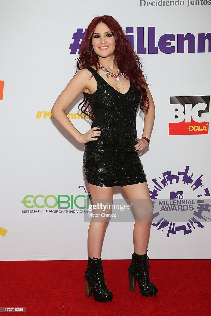 Singer Dulce María attends the MTV Millennial Awards 2013 at Foro Corona on July 16, 2013 in Mexico City, Mexico.