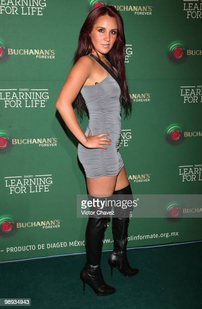 Singer Dulce Maria attends the Buchanan's Forever 2010 Learning For Life at Colegio de las Vizcainas on May 8 2010 in Mexico City Mexico