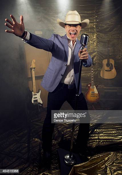 Singer Dustin Lynch poses for a portrait at the Academy of Country Music Awards for People Magazine on April 6 2014 in Las Vegas Nevada