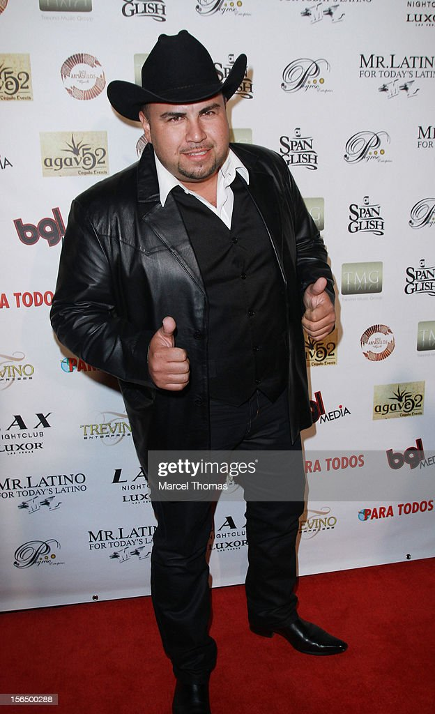 Singer E l Tigre de Terra attends the 13th Annual Latin GRAMMY Awards After-party at LAX Nightclub on November 15, 2012 in Las Vegas, Nevada.