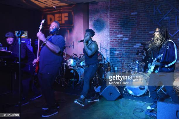 Singer Earl St Clair performs at the 2017 Def Jam Upfronts presented by Honda Stage Pepsi Courvoisier and True Religion at Kola House NYC on May 9...