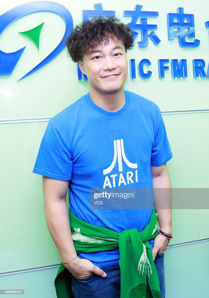 Eason Chan Attends Activity In Music FM Radio Guangdong