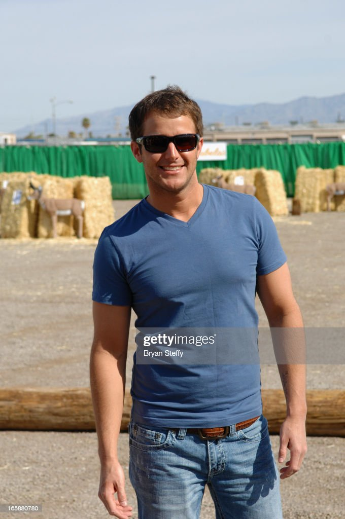 Singer <a gi-track='captionPersonalityLinkClicked' href=/galleries/search?phrase=Easton+Corbin&family=editorial&specificpeople=6756492 ng-click='$event.stopPropagation()'>Easton Corbin</a> attends the 48th Annual Academy Of Country Music Awards & Cabela's Great Outdoors Archery event at the Orleans Arena on April 6, 2013 in Las Vegas, Nevada.