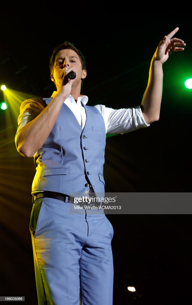Singer <a gi-track='captionPersonalityLinkClicked' href=/galleries/search?phrase=Easton+Corbin&family=editorial&specificpeople=6756492 ng-click='$event.stopPropagation()'>Easton Corbin</a> performs onstage at the All Star Jam during the 48th Annual Academy Of Country Music Awards at the MGM Grand Hotel/Casino on April 7, 2013 in Las Vegas, Nevada.