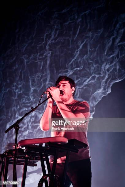 Singer Ed Droste of the American band Grizzly Bear performs live on stage during a concert at the Huxleys on October 12 2017 in Berlin Germany