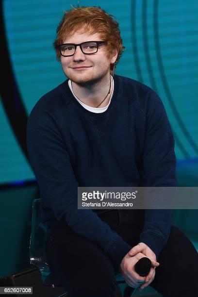 Singer Ed Sheeran attends 'Che Tempo Che Fa' tv show on March 12 2017 in Milan Italy