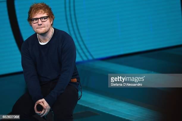 Singer Ed Sheeran attends 'Che Tempo Che Fa' tv show on March 12 2017 in Milan Italy