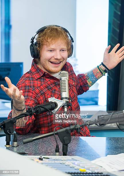 Singer Ed Sheeran attends 'The Elvis Duran Z100 Morning Show' at Z100 Studio on September 28 2015 in New York City