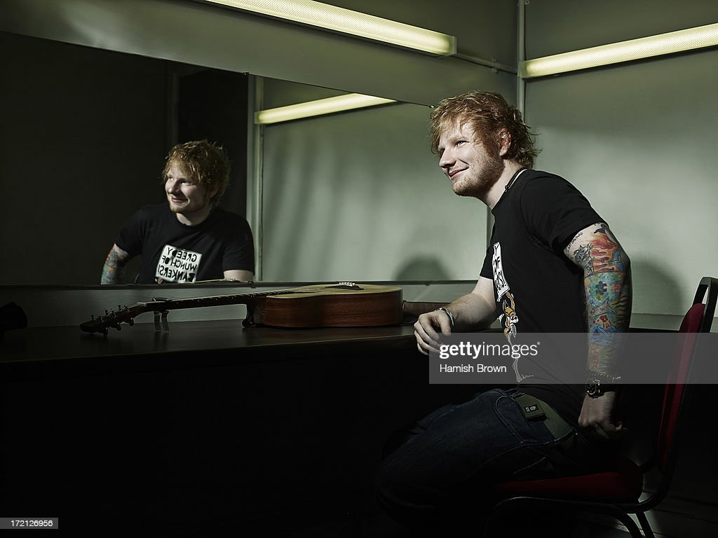 Singer <a gi-track='captionPersonalityLinkClicked' href=/galleries/search?phrase=Ed+Sheeran&family=editorial&specificpeople=7604356 ng-click='$event.stopPropagation()'>Ed Sheeran</a> is photographed for Sounds magazine on October 15, 2012 in London, England.