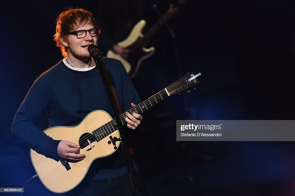 Singer Ed Sheeran performs at 'Che Tempo Che Fa' tv show on March 12, 2017 in Milan, Italy.