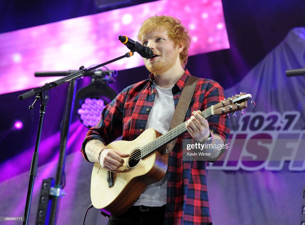 Singer <a gi-track='captionPersonalityLinkClicked' href=/galleries/search?phrase=Ed+Sheeran&family=editorial&specificpeople=7604356 ng-click='$event.stopPropagation()'>Ed Sheeran</a> performs onstage during 102.7 KIIS FM's 2014 Wango Tango at StubHub Center on May 10, 2014 in Los Angeles, California.