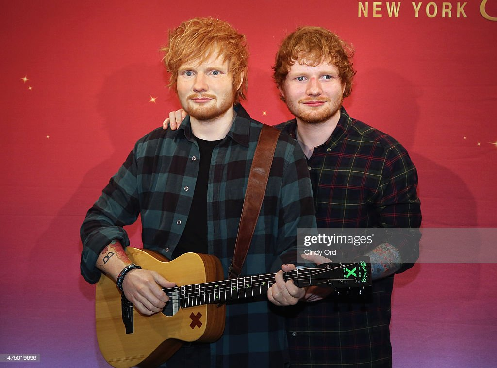 Singer Ed Sheeran unveils his neverbeforeseen Madame Tussauds wax figure at Madame Tussauds New York on May 28 2015 in New York City