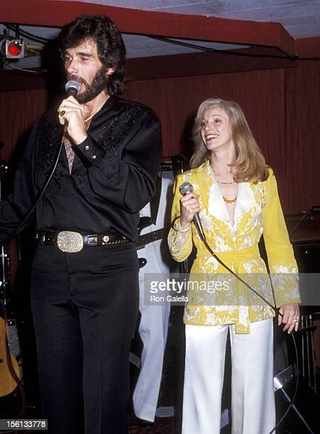 Singer Eddie Rabbitt and Actress Sondra Locke at their Opening on February 1 1979 at The Palomino in North Hollywood California