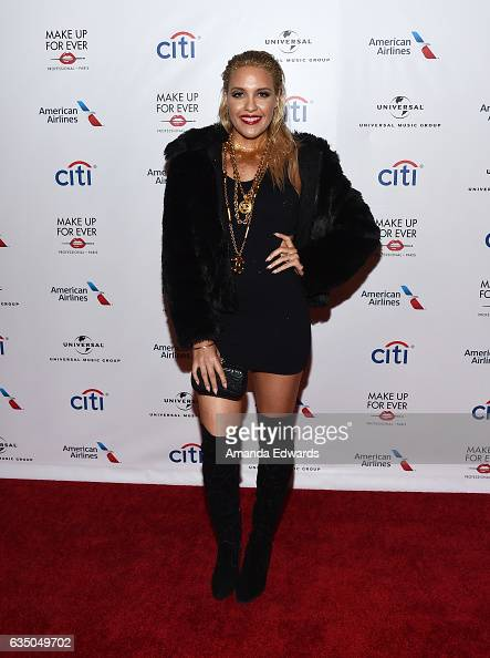 Singer Eden xo arrives at the Universal Music Group's 2017 GRAMMY After Party at The Theatre at Ace Hotel on February 12 2017 in Los Angeles...
