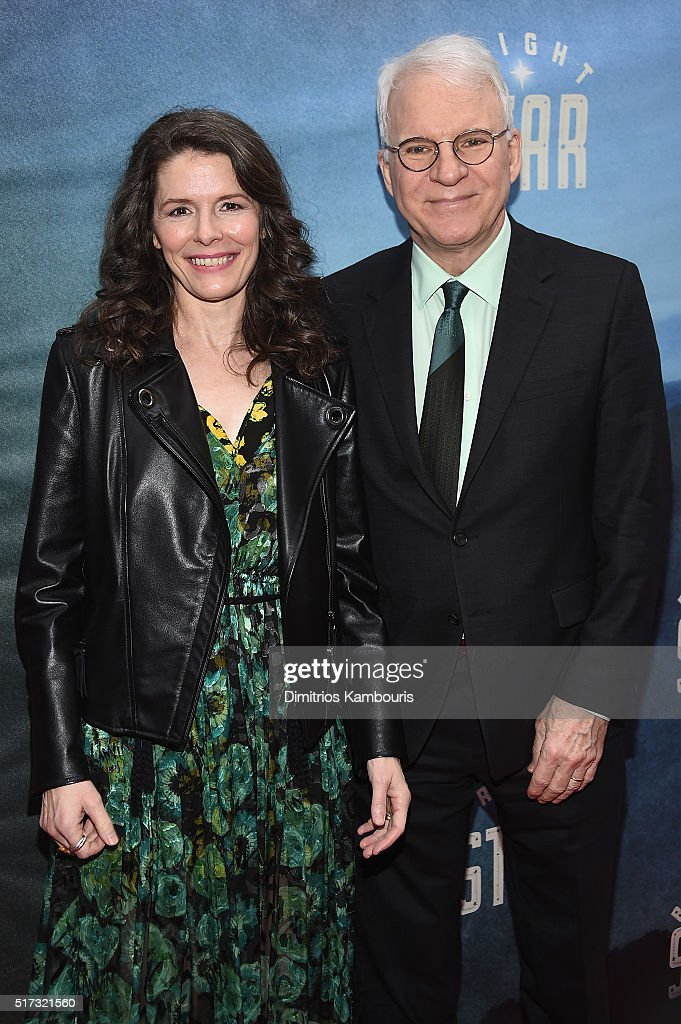 Singer Edie Brickell (L) and comedian Steve Martin attend 'Bright Star' Opening Night on Broadway at The Cort Theatre on March 24, 2016 in New York City.