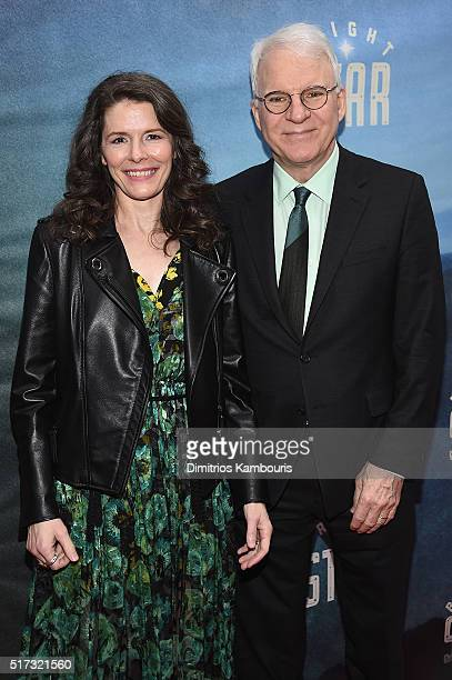 Singer Edie Brickell and comedian Steve Martin attend 'Bright Star' Opening Night on Broadway at The Cort Theatre on March 24 2016 in New York City