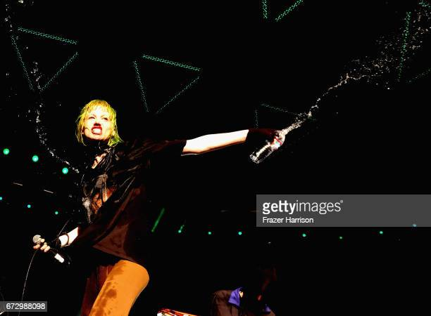 Singer Edith Frances of Crystal Castles performs at the Sahara Tent during day 1 of the 2017 Coachella Valley Music Arts Festival