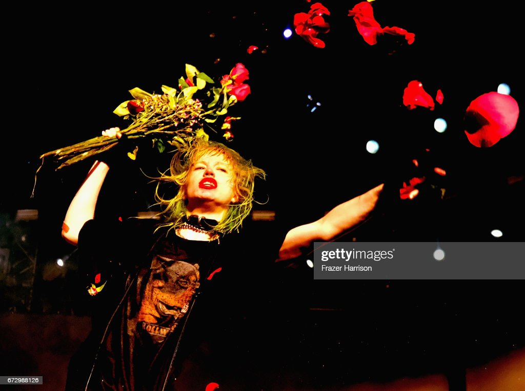 Singer Edith Frances of Crystal Castles performs at the Sahara Tent during day 1 of the 2017 Coachella Valley Music & Arts Festival