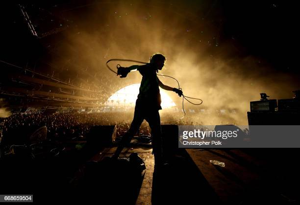 Singer Edith Frances of Crystal Castles performs on the Sahara Stage during day 1 of the Coachella Valley Music And Arts Festival at the Empire Polo...