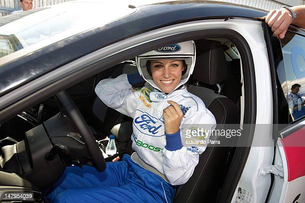 Singer Edurne attends the '24 horas Ford 2012' race at El Jarama racetrack on July 6 2012 in Madrid Spain