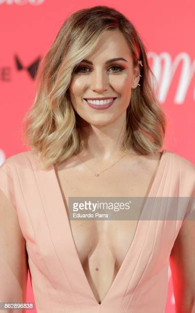Singer Edurne attends the 'Woman 25th anniversary' photocall at Madrid Casino on October 18 2017 in Madrid Spain