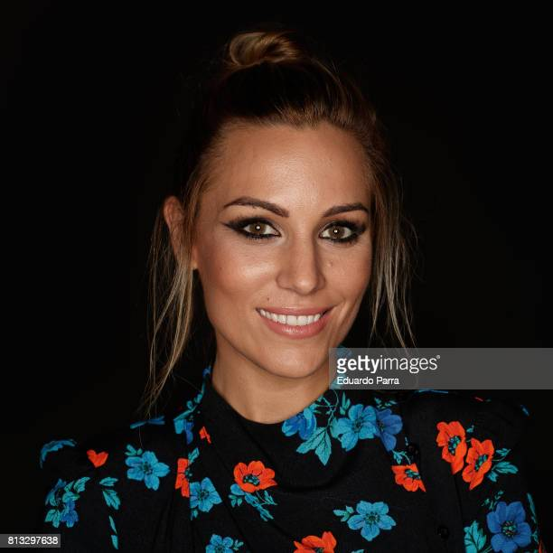 Singer Edurne Garcia arrives at 'Got Talent' show at Coliseum theatre on July 12 2017 in Madrid Spain