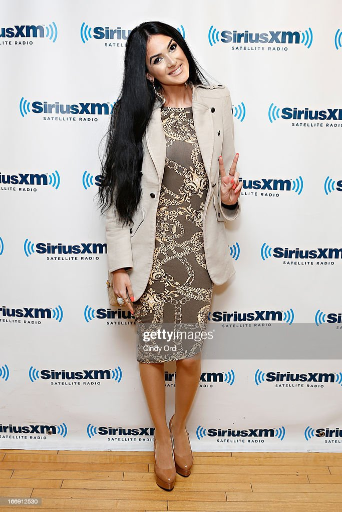 Singer Egine visits the SiriusXM Studios on April 18, 2013 in New York City.