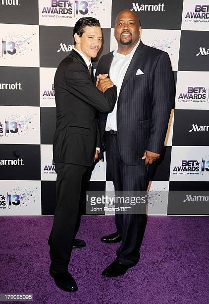 Singer El DeBarge and guest attend Post Reception during the 2013 BET Awards at JW Marriot at LA Live on June 30 2013 in Los Angeles California