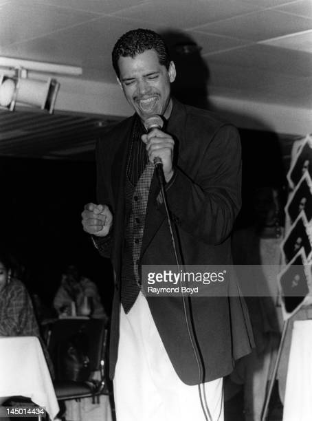 Singer El DeBarge performs aboard The Odessey in Chicago Illinois in JUNE 1994