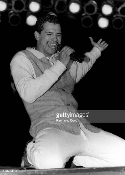 Singer El DeBarge performs at the Hyatt Regency Chicago in Chicago Illinois in 1994