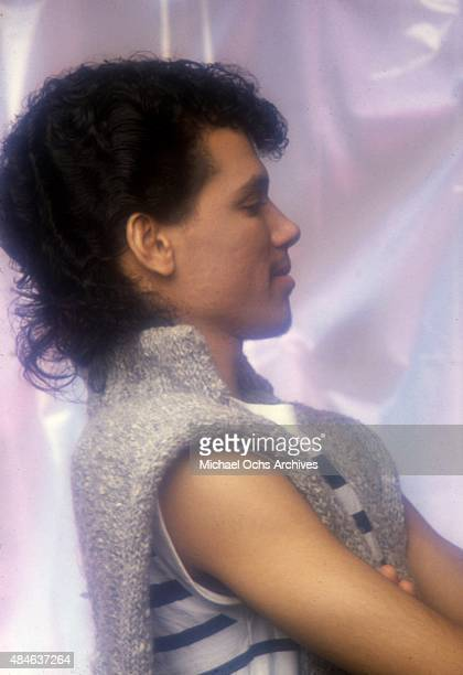 Singer El DeBarge poses for a portrait session on January 31 1984 in Los Angeles California