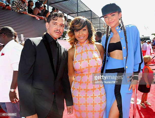 Singer El DeBarge singer Erica Campbell and actress Zendaya attend the BET AWARDS '14 at Nokia Theatre LA LIVE on June 29 2014 in Los Angeles...