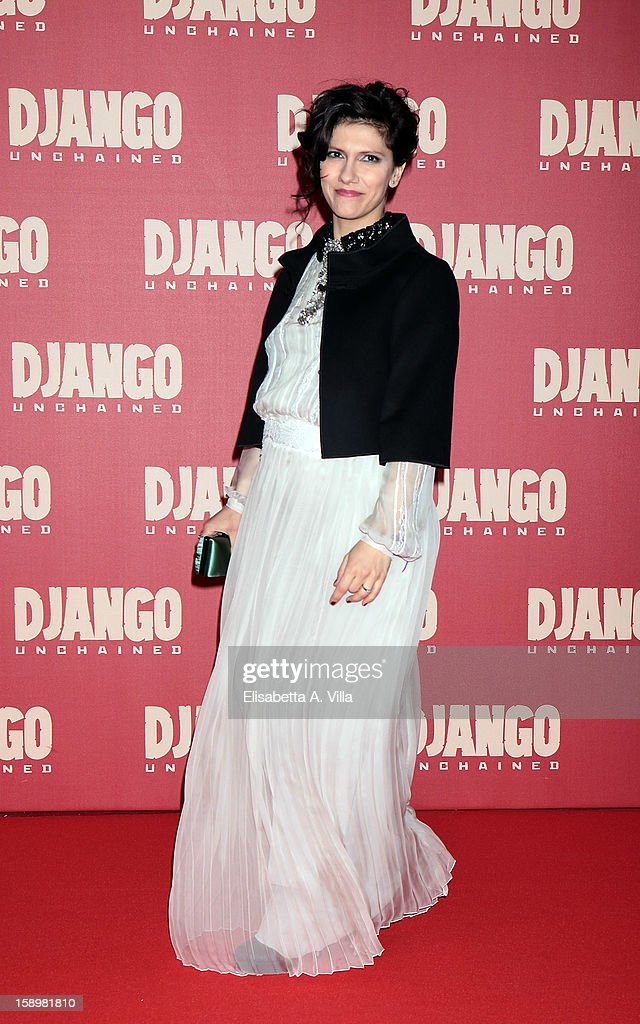Singer Elisa attends 'Django Unchained' premiere at Cinema Adriano on January 4, 2013 in Rome, Italy.