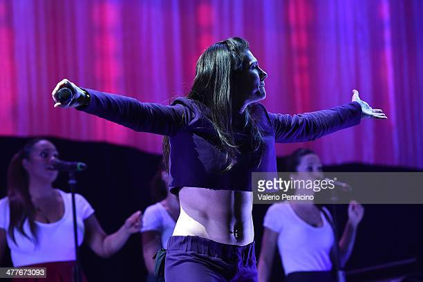 Singer Elisa performs on stage at Parco Olimpico on March 10 2014 in Turin Italy