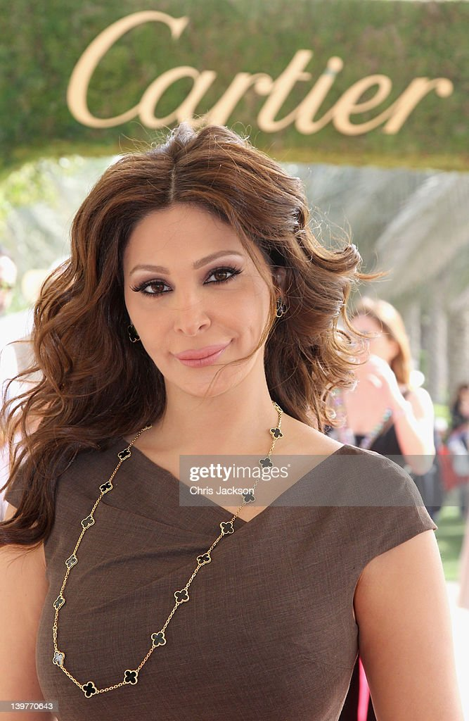Singer <a gi-track='captionPersonalityLinkClicked' href=/galleries/search?phrase=Elissa&family=editorial&specificpeople=641088 ng-click='$event.stopPropagation()'>Elissa</a> attends the Cartier International Dubai Polo Challenge at the Desert Palm Hotel on February 24, 2012 in Dubai, United Arab Emirates. The event takes place under the patronage of HRH Princess Haya Bint Al Hussein, wife of HH Sheikh Mohammed Bin Rashid Al Maktoum, Vice President and Prime Minister of UAE Ruler of Dubai. The Cartier International Dubai Polo Challenge is the most celebrated tournament in the desert and one of three Cartier hosts each year including the Royal Cartier International Windsor Polo and Saint-Moritz Snow Polo event.