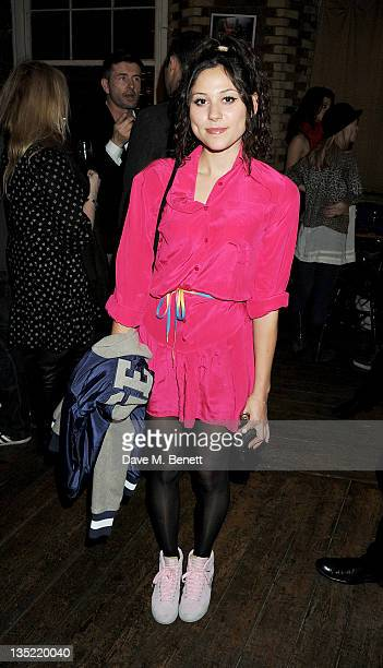 Singer Eliza Doolittle attends an after party following the Press Night performance of 'Pippin' at The Menier Chocolate Factory Theatre on December 7...
