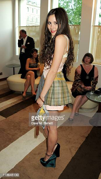 Singer Eliza Doolittle attends the Tomodachi Charity Dinner hosted by Chef Nobu Matsuhisa to benefit the Japan disaster appeal at Nobu Park Lane on...