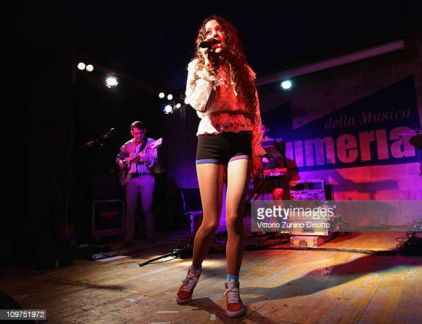 Singer Eliza Doolittle performs at 'La Salumeria della Musica' on March 3 2011 in Milan Italy