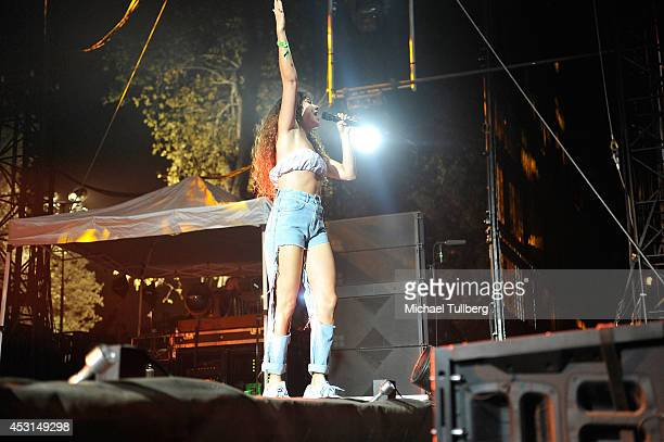 Singer Eliza Doolittle performs during Day 2 of the HARD Summer 2014 festival at Whittier Narrows Recreation Area on August 3 2014 in Los Angeles...