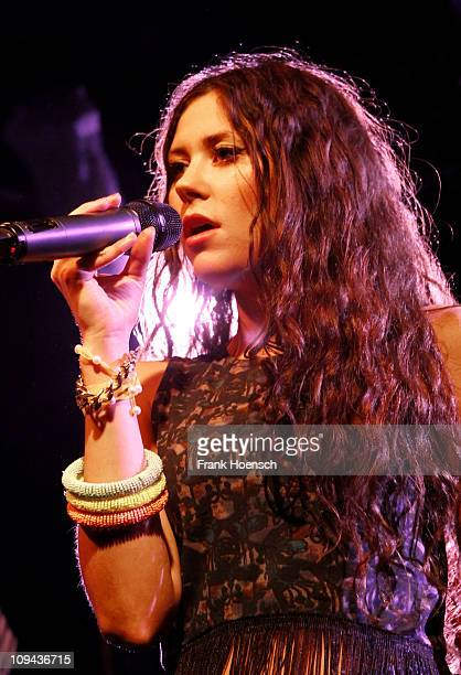 Singer Eliza Doolittle performs live in support of Max Mutzke during a concert at the Frannz Club on February 25 2011 in Berlin Germany
