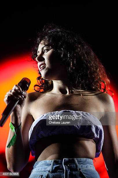Singer Eliza Doolittle performs with Disclosure during HARD Summer at Whittier Narrows Recreation Area on August 3 2014 in Los Angeles California